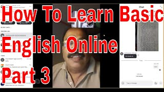 How To Learn Basic English Online Part 3 Through Skype Online With An Indian teacher!