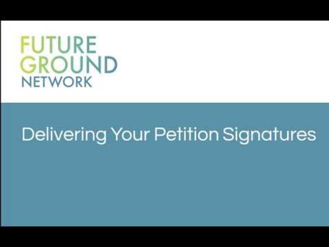 4. Delivering Petition Signatures
