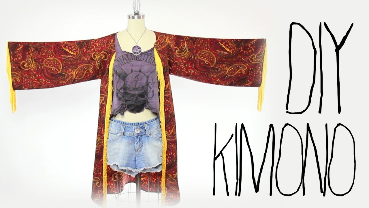 DIY Fashion Kimono, Gatsby Style - Threadbanger - YouTube