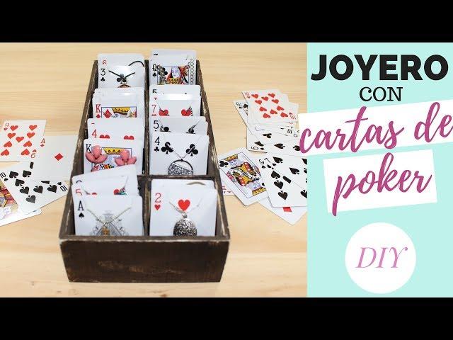 JOYERO con cartas de POKER | DIY