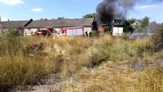 В поселке Старый Крым выгорели бытовки