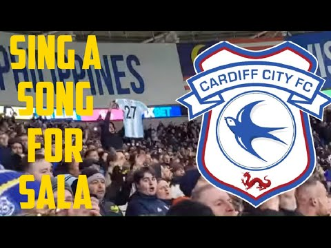 Sing a song for Sala - final minutes of Cardiff city's win Vs Bournemouth.