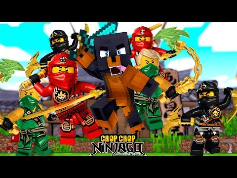 Minecraft CHOP CHOP - LEGO NINJAGO LLYOD, KAI & COLE GET CHOPPED UP BY DONUT!!