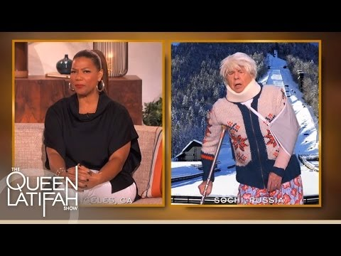 Queen Latifah Checks In With The Oldest Competing Ski Jumper Sven Nordquist