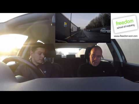 Daniel training for RoSPA Advanced Driving Test with Phil Knight session 1