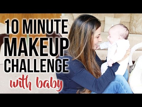 10 MINUTE MAKEUP CHALLENGE WITH A BABY - Makeup for Mums | Ysis Lorenna