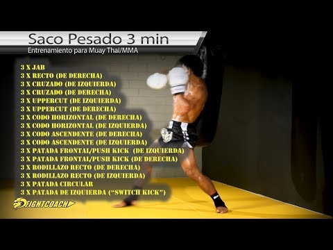 Entrenamiento con saco para Muay Thai/MMA (tutorial en español)