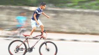 Crazy Bicycle Stunts by a Little Boy - ছোট্ট ছেলের অবাক করা সাইকেল স্ট্যান্টস - Simple Crafts