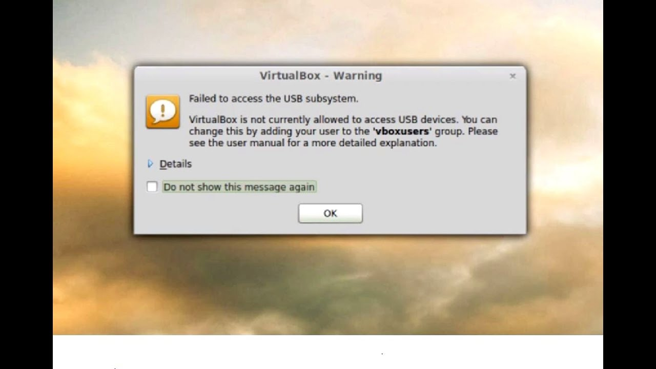 No Usb Devices Found Virtualbox