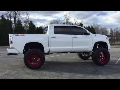 """2014-toyota-tundra-platinum-lifted-10""""-bulletproof-kit-24x14-forces-40""""-toyo's-for-sale"""