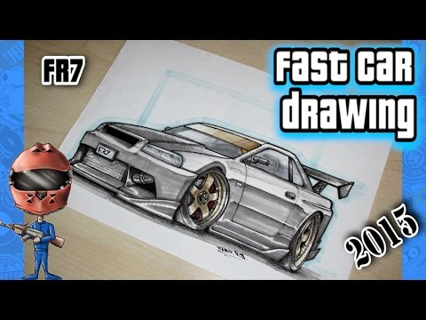 Nissan Silvia S15 Car Drawing By Fast Art Funnycat Tv