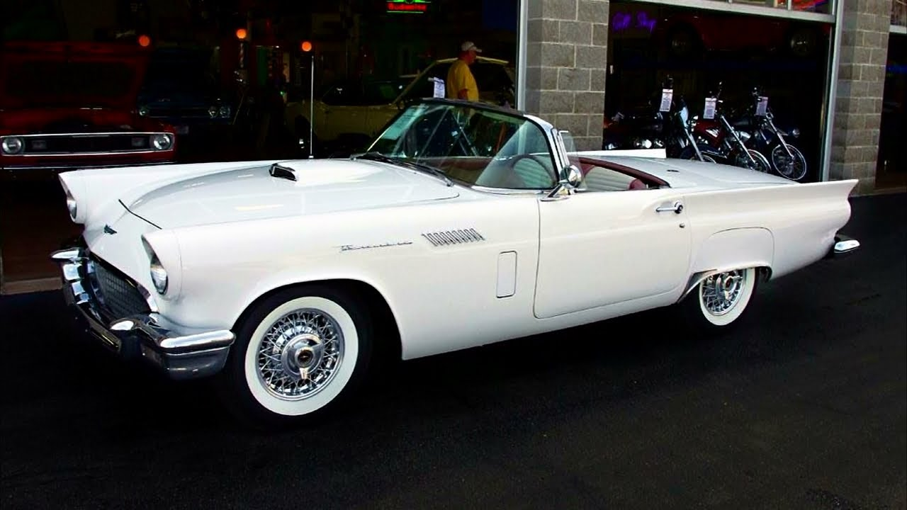 1957 Ford Thunderbird Convertible 312 Y-block V8 - YouTube