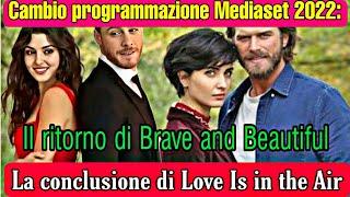 Mediaset cambio Programmazione:Il Ritorno di Brave and Beautiful La conclusione di Love Is in the Ai