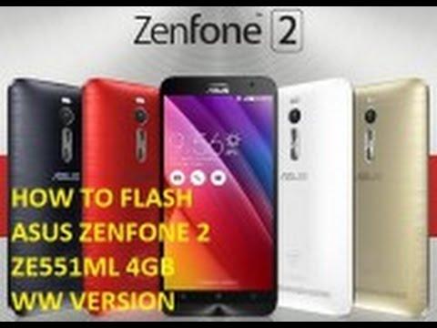 How to Flash ASUS Zenfone 2 4GB ZE551ML (Official Firmware)