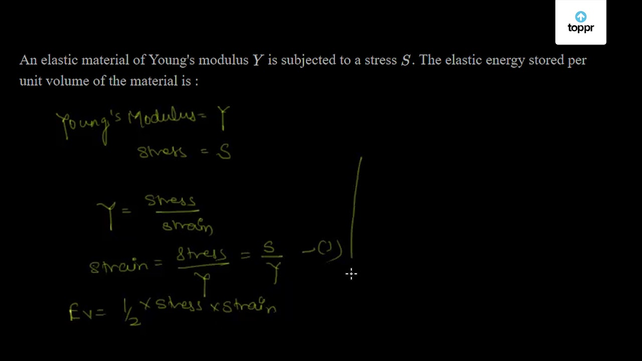 Elastic Moduli Young S Modulus Shear Modulus Videos And Examples