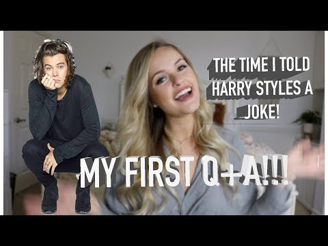 THE TIME I TOLD HARRY STYLES A JOKE - MY VERY FIRST Q+A!!!