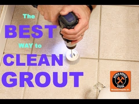 how to clean bathroom tile floor grout best way to clean grout by home repair tutor 26055