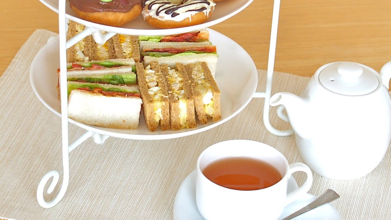 High tea menus and recipes - Afternoon Tea Sandwiches Chicken Egg Blt Recipe Youtube