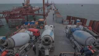 Бетонирование фарватерной опоры Керченского моста