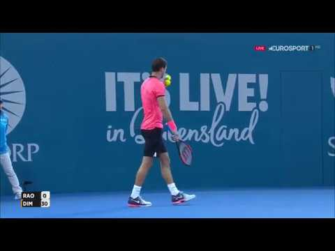 Grigor Dimitrov vs. Milos Raonic 7-6(7), 6-2 Brisbane International (SF) 07.01.2017.