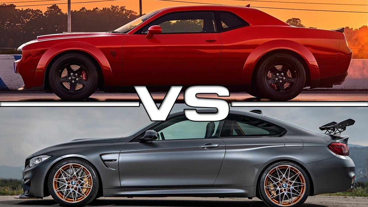 2018 Dodge Challenger Srt Demon Vs 2017 Bmw M4 Gts Youtube