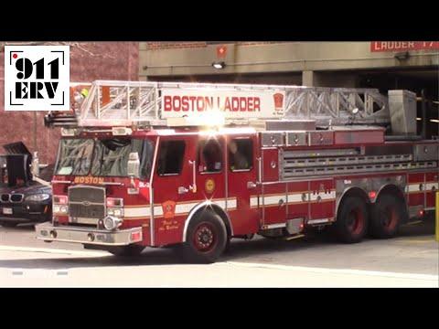 Boston Fire Ladder 17 Spare Responding - YouTube