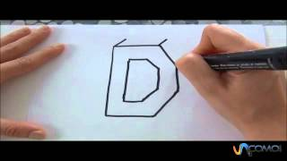 Cómo hacer la letra D en 3D