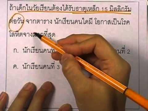 ข้อสอบO-NET ป.6 ปี2552 : วิทย์ ข้อ2