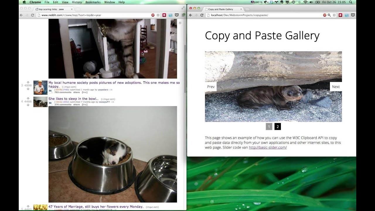 Copy and paste images into your browser using W3C Clipboard API