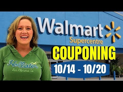 WALMART Couponing Weekly Video (10/14-10/20) FREEBIES! Easy Deals to learn How to Coupon at Walmart!
