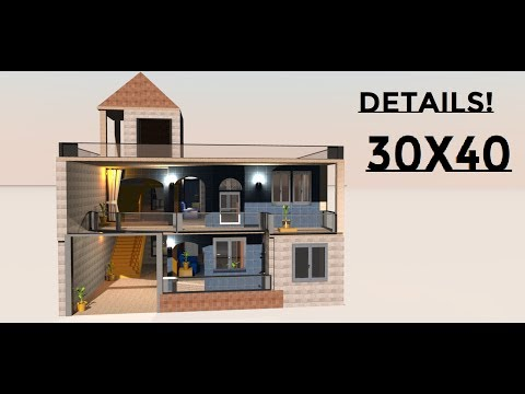 30X40 Modern house made by priya soni on build your dream house