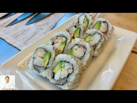 Simple Perfect California Roll With REAL Crab Meat | How To Make Sushi Series