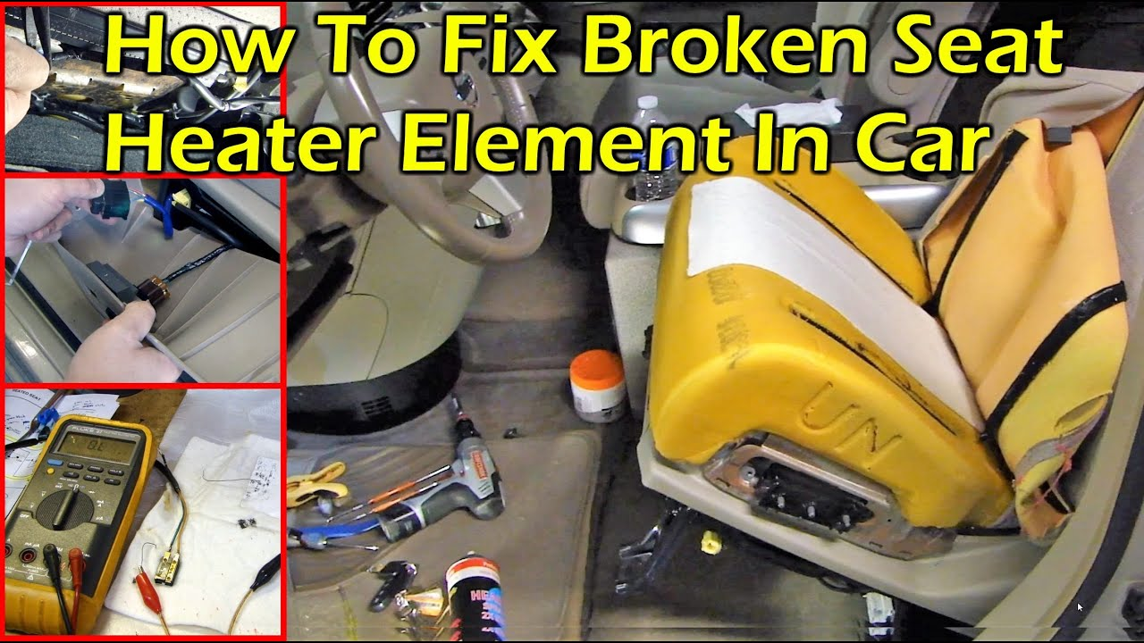 medium resolution of fix nissan broken seat heater elements