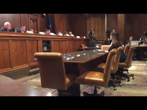 Kathleen Kane testifies for change to Pennsylvania's statue of limitations.