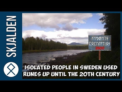 Isolated People in Sweden Used Runes Up Until The 20th Century