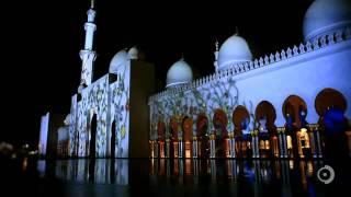فيديو  إضاءة مبهرة لمسجد الشيخ زايد بالإمارات