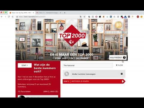 Top 2000: bindend stemadvies