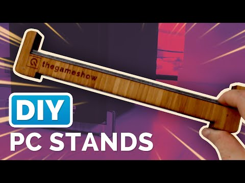 Make Your Own Wood PC Tower Stands | DIY Laser Cutter PC Risers Tutorial