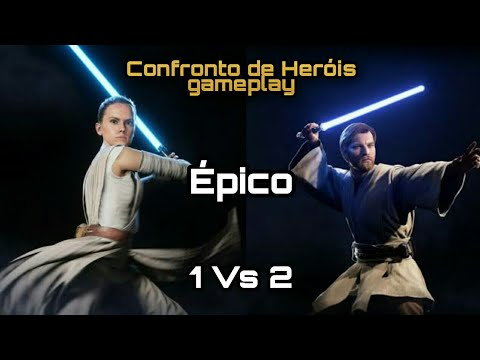 Download Gameplay Star Wars Battlefront 2 | Modo Confronto de Heróis | Venci duas vezes 1 vs 2!