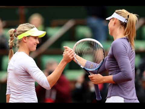 Sharapova VS Bouchard Highlight 2013
