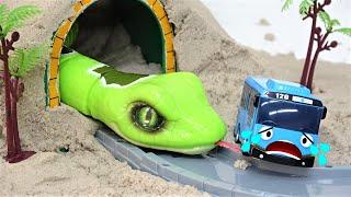 ちびっこバスタヨが洞窟でヘビを見た、タヨ、マックス、ハート気をつけて!