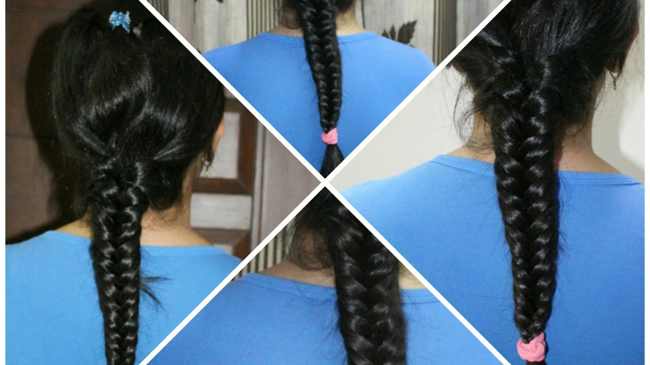 Fishtail Braid Tutorial For Beginners Khajuri Hairstyle How To Do A Fishtail Braid