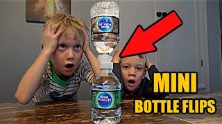 Mini Bottle Flip Challenge | Colin Amazing