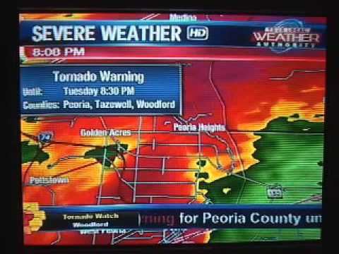 Storm Coverage - Peoria, IL - Tornado Warning  March 15, 2016
