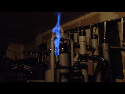 homemade woodgas wet scrubber part 2 (testing)