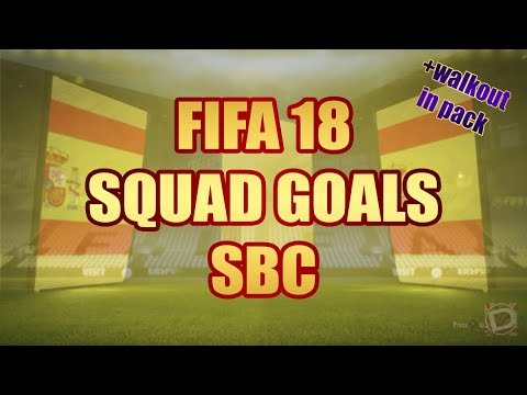 FIFA 18  'SQUAD GOALS' SBC CHEAPEST SOLUTION!! HYBRID NATIONS! +PACK I SQUAD BUILDING CHALLENGE!