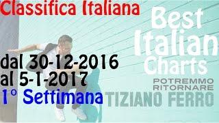Top 20 Italiana | canzoni più ascoltate in Italia | 1° Settimana | Dal 30-12-2016 al 5-1-2017