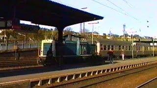 Bundesbahn 1990 - Führerstandsmitfahrt 212 301-6 Siegen - Erndtebrück und zurück