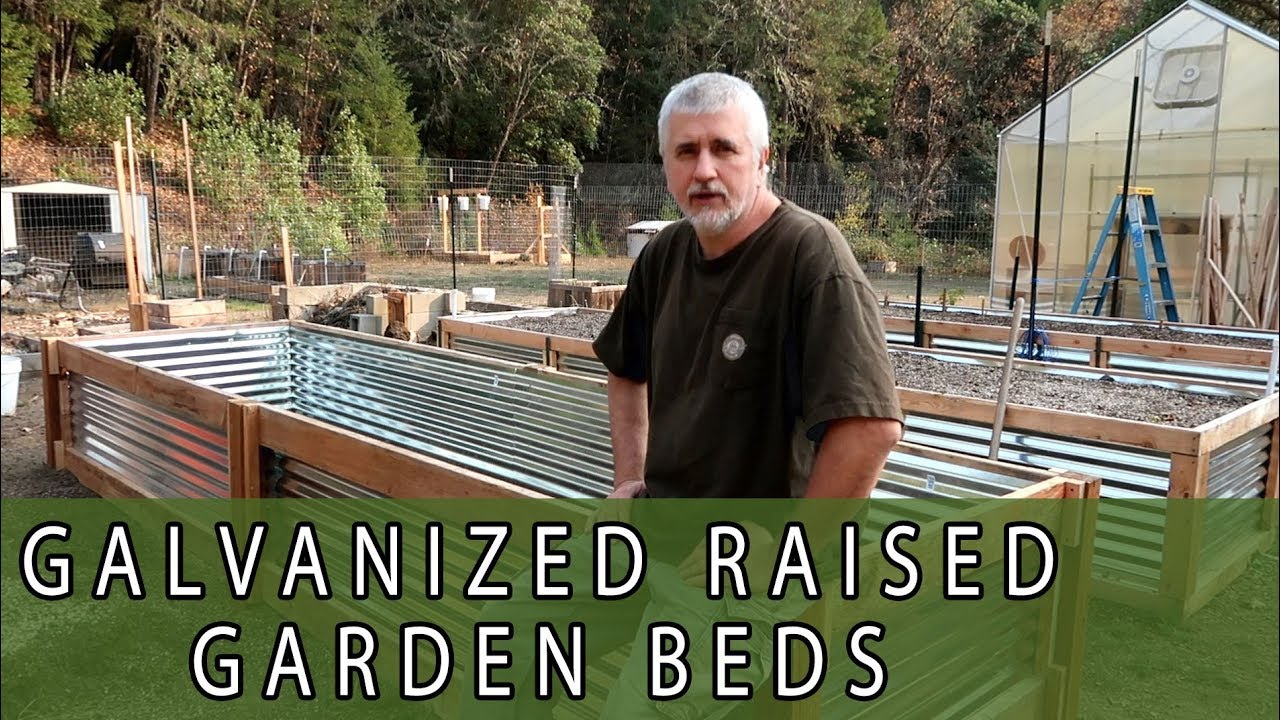 Galvanized Corrugated Panel Raised Garden Bed Youtube