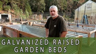 Galvanized Corrugated Panel Raised Garden Bed